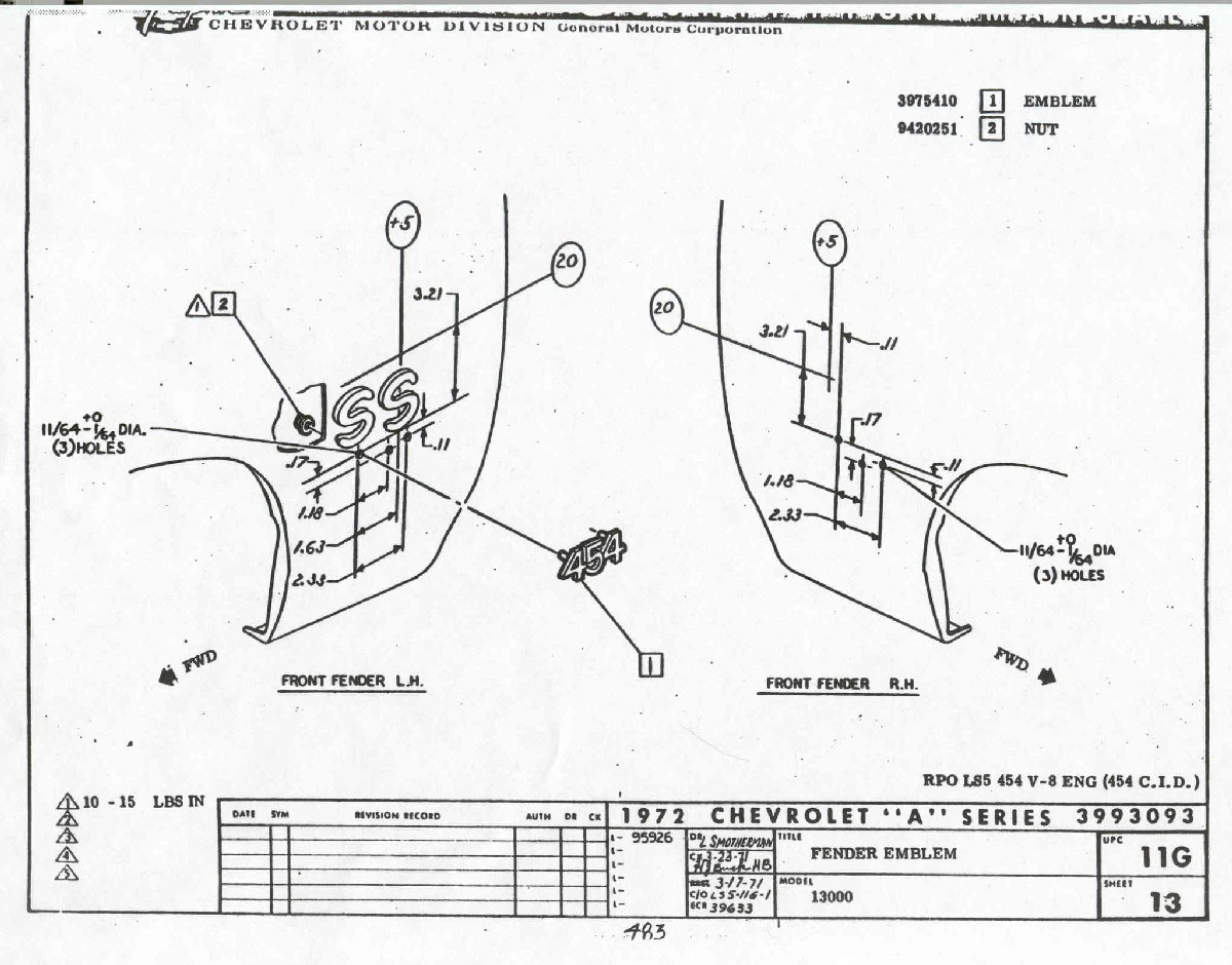 1965 El Camino Wiring Diagram 70 Chevelle Ss Fuse Box Library 72 Fender Emblem Location 1 Fenderemblem02